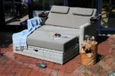 Destiny Gartenmöbelset »FLORENZ«, (5-tlg), Multifunktions-Lounge weiß/ grau meliert, mit Polster