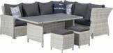 Primaster Dining Lounge Möbelset Caldera inkl. Auflagen und Zierkissen