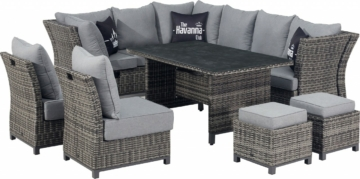 Primaster Dining Lounge Möbelset Riosa inkl. Allwetter Sitz und Rückenkissen