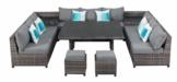 Primaster Dining Lounge Möbelset Tavira inkl. Auflagen und Zierkissen